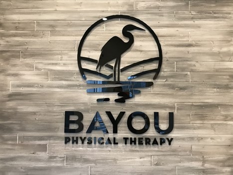 Bayou Physical Therapy 3D Signs & Dimensional Letters